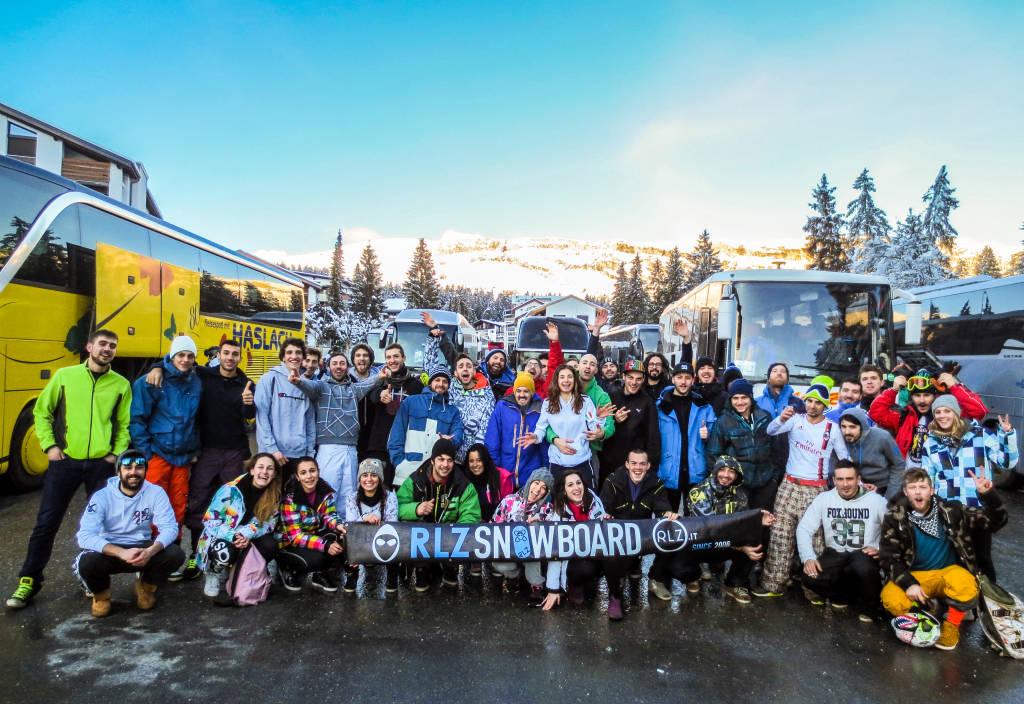 RLZ – Rider Living Zone - festeggia 10 anni di gite sulla neve.