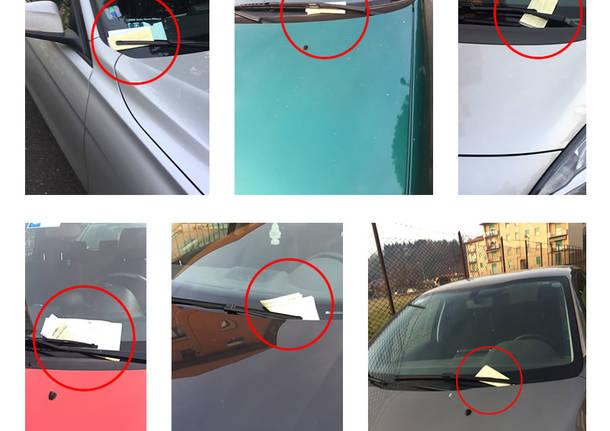 26 Dicembre 2016: a Santo Stefano i vigili multano tutte le auto in Via Val di Non.