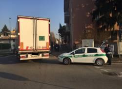 Ciclista travolto da un camion Gallarate 5 dicembre 2016