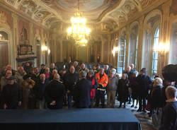 Gli auguri di palazzo estense ai volontari anziani