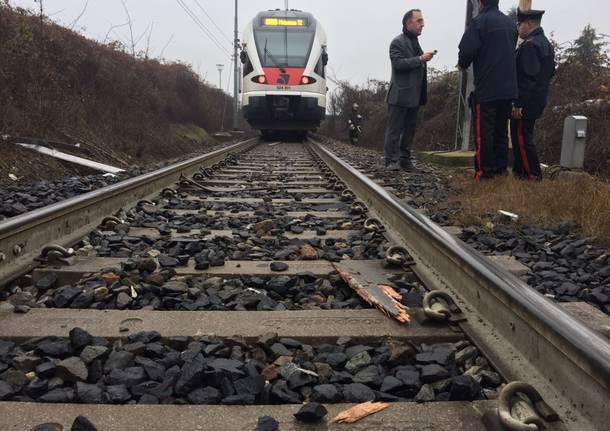 Incidente ferroviario Ternate dicembre 2016