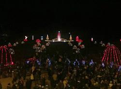 L'accensione delle luci ai giardini  per Natale 2016