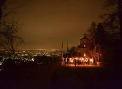 La fiaccolata al Sacro Monte