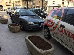 Le fioriere di piazza Beccaria