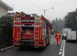 malnate - incendio villetta via savoia