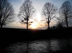 tramonto naviglio sera