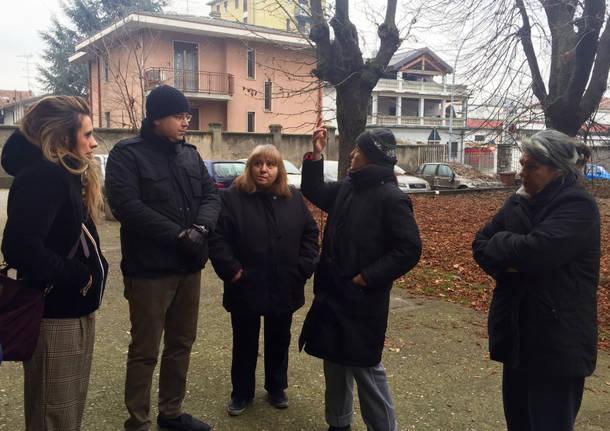 Andrea Cassani sindaco Gallarate visita Cascinetta