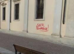 Atto vandalico a Saronno