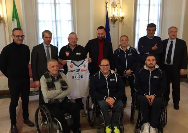 Basket in carrozzina Varese presentazione 2107