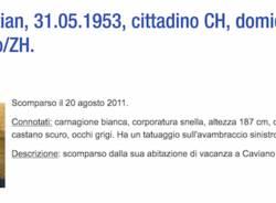 Scomparsi in Canton Ticino
