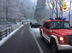 Interventi dei vigili del fuoco per la prima nevicata del 2017