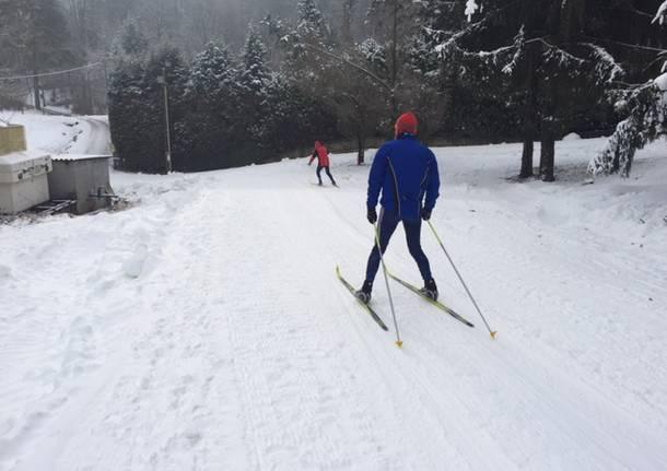 Neve, la pista di fondi di Cunardo