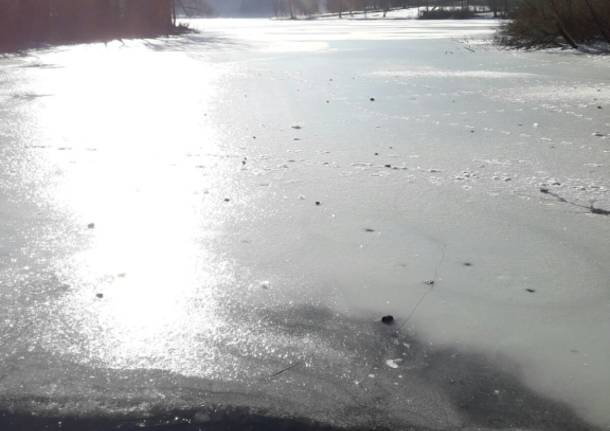 Lago di Ghirla gelato
