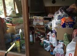 Tre tonnellate di prodotti per gli animali terremotati