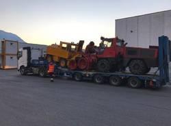 I mezzi ticinesi per aiutare l\'Abruzzo