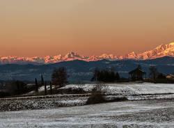 Prime luci sul Monte Rosa