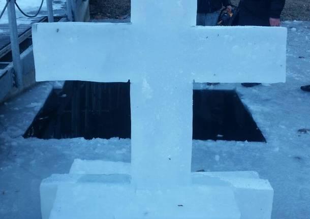 L'altare ortodosso di ghiaccio