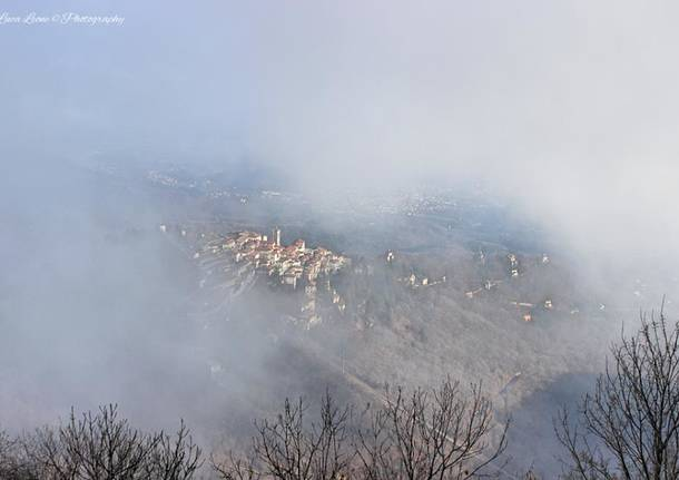 Sacro Monte tra le nubi