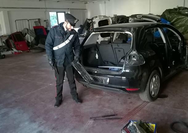Deposito di auto rubate a Cassano Magnago