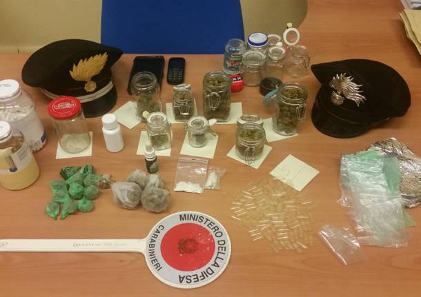 cocaina metamfetamina,marijuana rave carabinieri busto arsizio