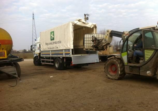 consegna mangime allevatori terremoto rieti