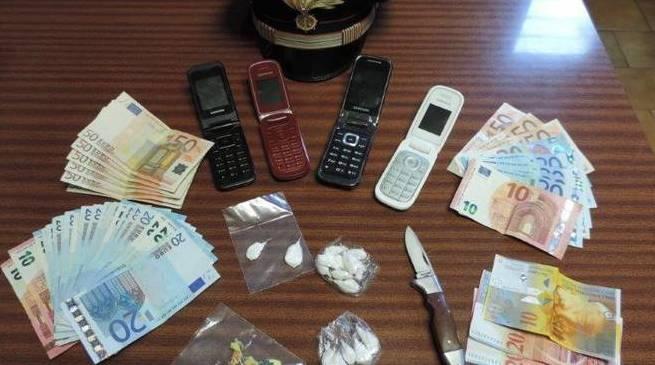 droga cocaina soldi carabinieri busto arsizio