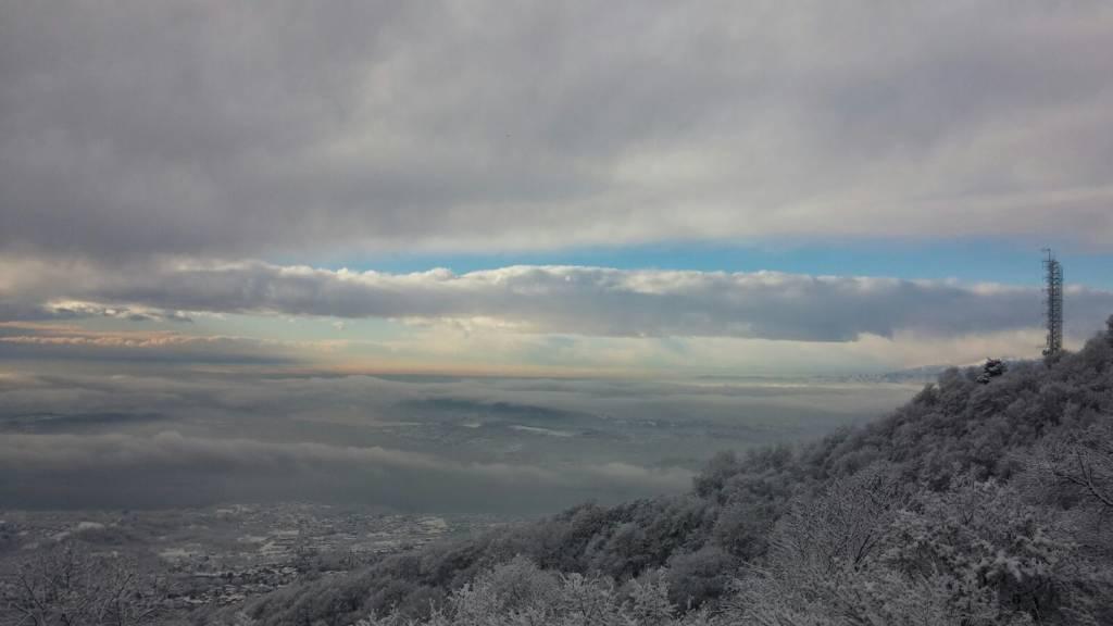 Il Sacro Monte innevato