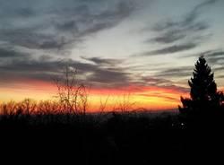 il tramonto da Saltrio