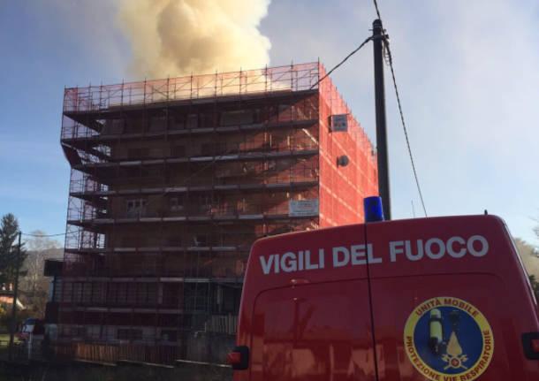 incendio cadrezzate condominio gennaio 2016