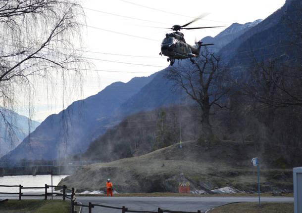 Incendio Val Leventina dicembre 2016