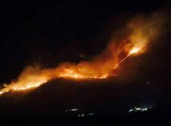 incendio valcamonica gennaio 2017