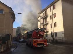 incendio via Mottarone Gallarate 2017