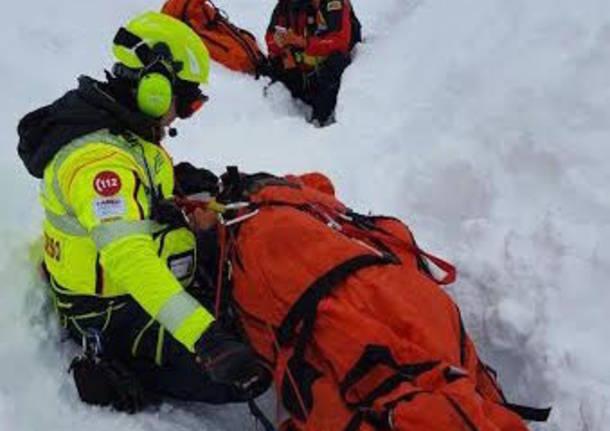 intervento a teramo terremoto e neve