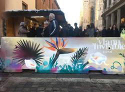 La street art sulle barriere anti terrorismo