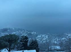 Laveno Mombello sotto la neve