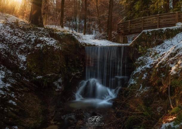 Le cascate del parco dell'argentera