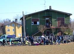 Lo sgombero dei profughi di Samarate