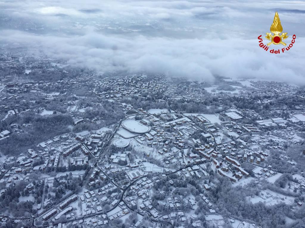 neve 2017 foto dall'alto