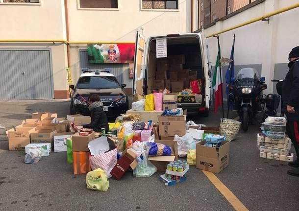 raccolta pro terremotati carabinieri busto arsizio