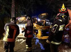 Rimozione spazzaneve a Orascio, Maccagno 10 gennaio 2017