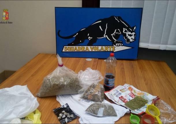 sequestro droga marijuana eroina polizia busto arsizio