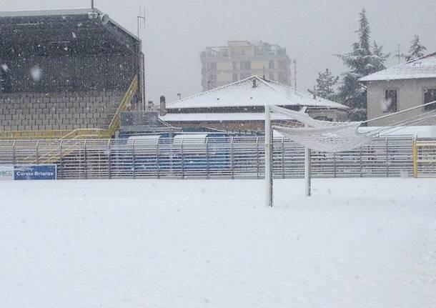 stadio lecco neve