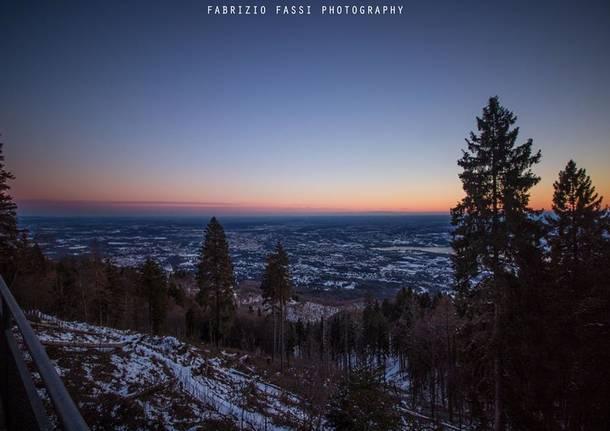 Tramonto al Campo dei Fiori - foto di Fabrizio Fassi
