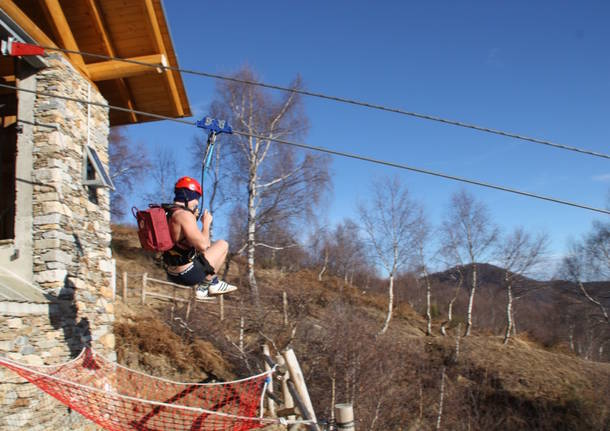 Zipline all'Alpe Segletta