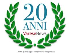 20 anni, logo provvisorio