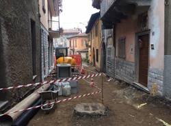 Bisuschio - Lavori nel centro storico (febbraio 2017)