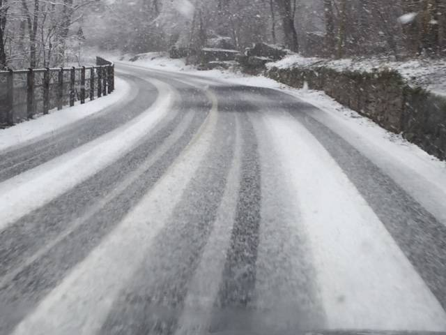 Neve sulle strade dell\'Alto Varesotto