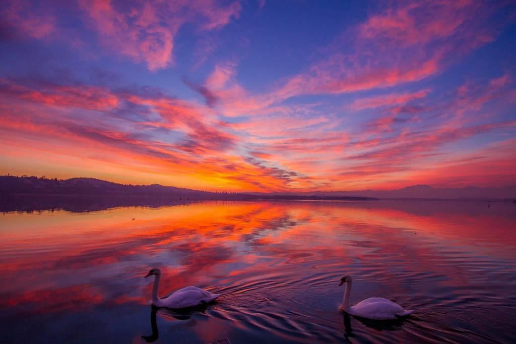 Un tramonto romantico