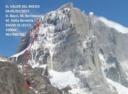 cerro murallon matteo della bordella david bacci matteo bernasconi ragni di lecco