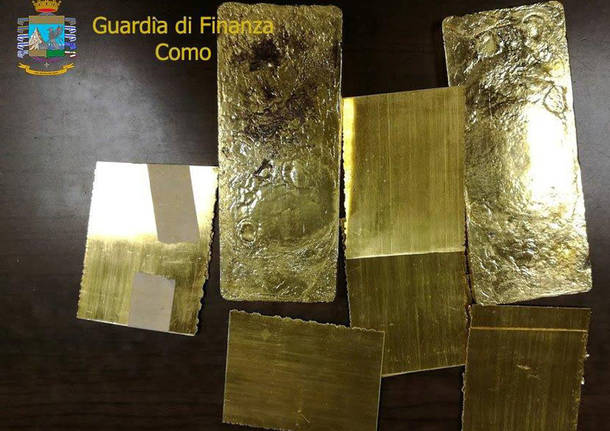 Contrabbando d'oro tra Italia e Svizzera